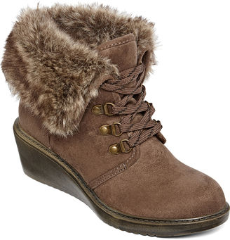 ARIZONA Arizona Snyder Lace-Up Wedge Booties $19.99 thestylecure.com