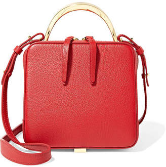 The Volon - Cube Mini Textured-leather Shoulder Bag