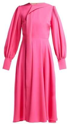 Roksanda Adyn Silk Georgette Midi Dress - Womens - Pink