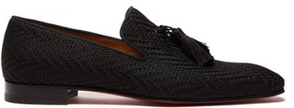 Christian Louboutin Officialito Woven Tassel Loafers - Mens - Black