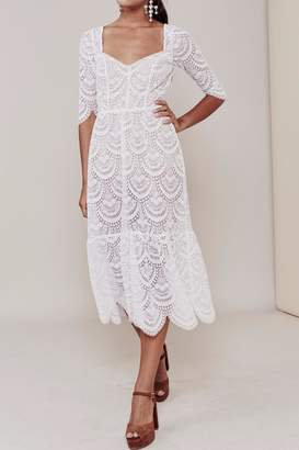 For Love & Lemons Rosalita Long Dress