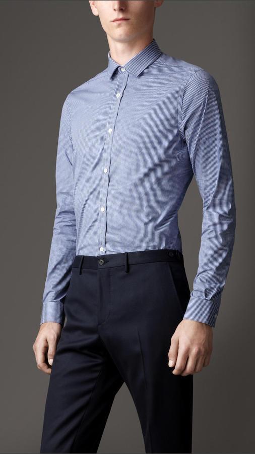 Burberry Modern Fit Cotton Gingham Shirt