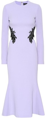 David Koma Wool-blend crepe dress