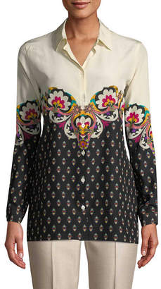 Etro Printed Collared Blouse