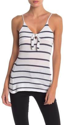 Chaser Striped Knotted Front Cami
