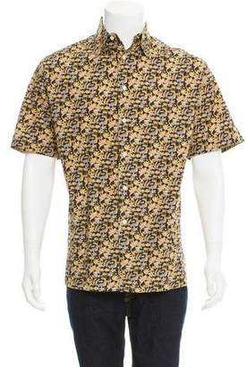 Salvatore Ferragamo Jungle Print Button-Up Shirt