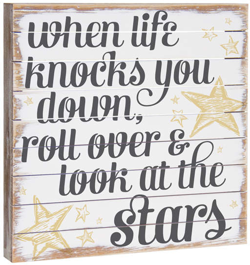 'Look at the Stars' Wood Wall Art