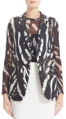 Women's Max Mara Edda Print Linen Vest $1,050 thestylecure.com