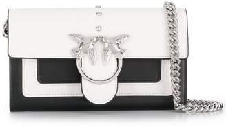 Pinko silver birds shoulder bag