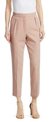 Theory Women's City Pant High-Waisted Trousers - Petal Pink - Size 8