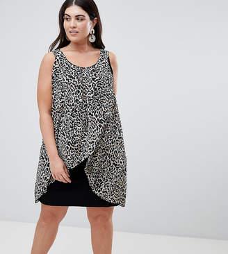 Koko Animal Print Wrap Front Dress