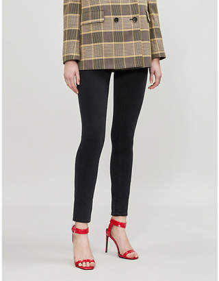 Paige Hoxton Ankle Peg Lace high-rise jeans