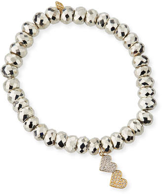 Sydney Evan 14k Gold Two-Tone Diamond Heart Bracelet