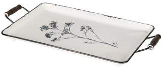 Foreside Home and Garden Floral Enamel Tray