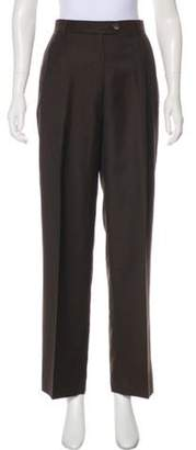 Loro Piana Virgin Wool High-Rise Pants Brown Virgin Wool High-Rise Pants