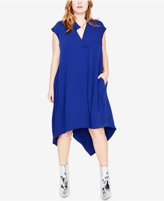 Rachel Roy Trendy Plus Size Handkerchief-Hem Dress