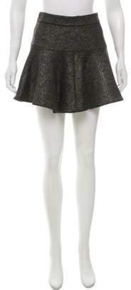 Thakoon Flared Metallic Skirt