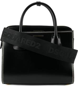 DSQUARED2 satchel bag with topstitching detail