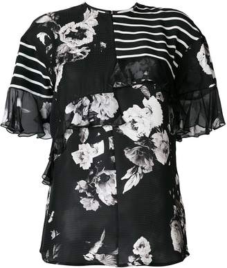 Preen by Thornton Bregazzi Verity printed ruffle blouse