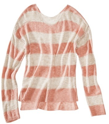Xhilaration Juniors Boat Neck Open Knit Sweater - Assorted Colors