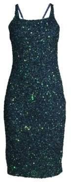Parker Black Sage Beaded Strappy Dress