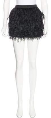 Mason Feather Mini Skirt