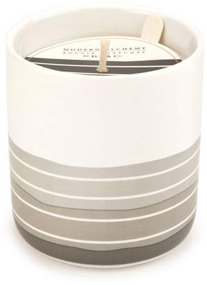 D.L. & Co. Alchemy by Black/White Geo Pattern Ceramic Candle - 8 oz.