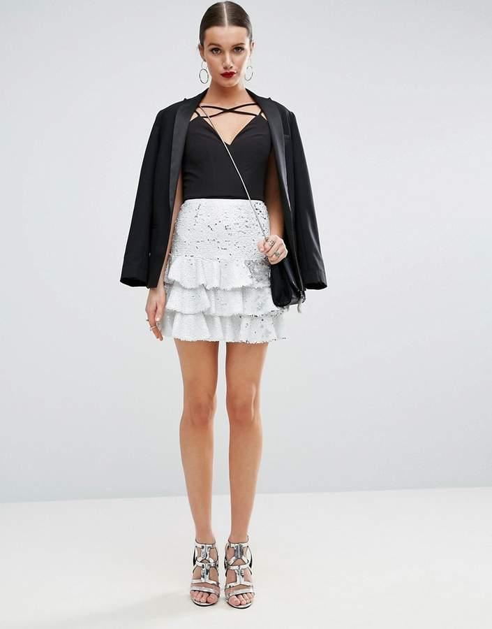 AsosASOS Sequin Rara Mini Skirt