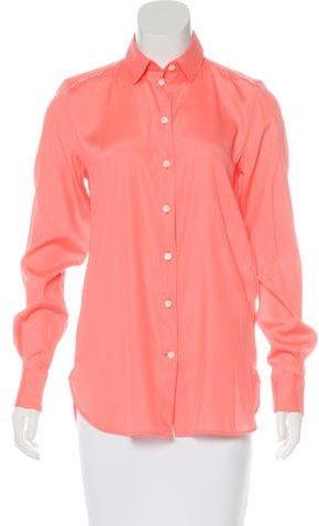 CelineCéline Silk Button-Up Top