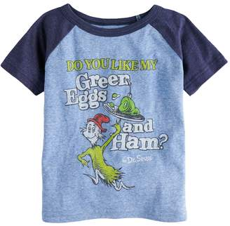 "Dr. Seuss Toddler Boy Jumping Beans Green Eggs & Ham"" Raglan Graphic Tee"