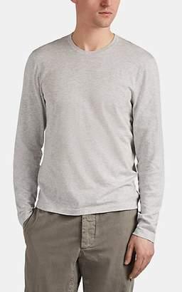 James Perse Men's Mélange Cotton Crewneck Long-Sleeve Shirt - Silver