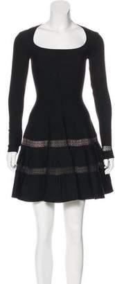 Alaia Long Sleeve Fit & Flare Dress w/ Tags