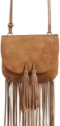 TEN79LA Fringe Tassel Suede Crossbody Bag