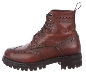 DsquaredÂ2 Wingtip Ankle Boots Brown DsquaredÂ2 Wingtip Ankle Boots