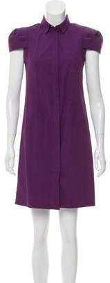 Alexander McQueen Button-Up Mini Dress