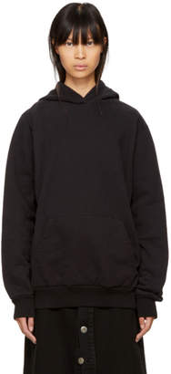 Maison Margiela Black Heavy Brushed Hoodie