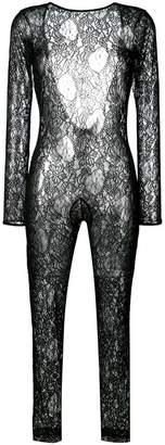 MSGM fitted lace jumpsuit