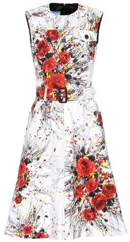 Prada Exclusive to mytheresa.com – printed denim dress