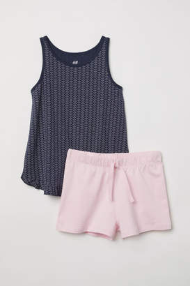 H&M Tank Top and Shorts - Blue