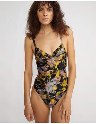 Cynthia Rowley Metallic Sandi Swimsuit