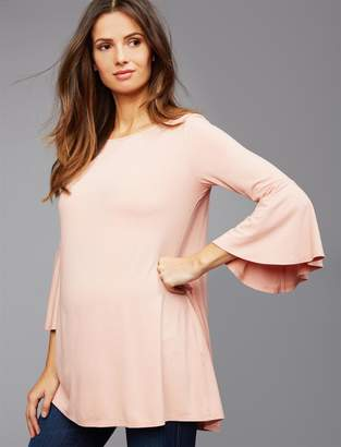 Isabella Oliver Pea Collection Bell Sleeve Maternity Top