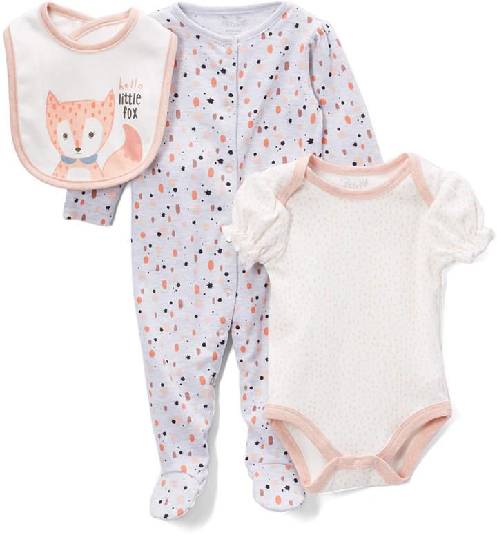 White & Pink Spot Footie Set - Newborn & Infant