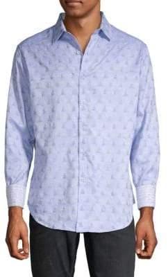 Robert Graham Pebbleton Graphic Button-Down Shirt