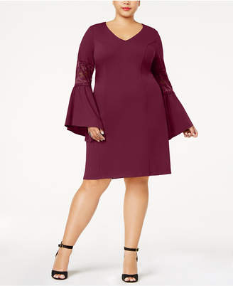 Love Squared Trendy Plus Size Bell-Sleeve Dress