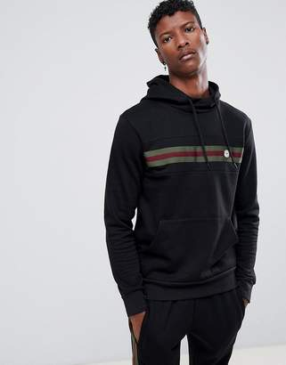 Le Breve Chest Striped Hoodie