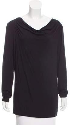 Tahari Cowl Neck Long Sleeve Top