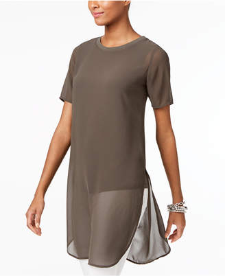 Alfani Side-Slit Tunic Top, Only at Macy's $79.50 thestylecure.com