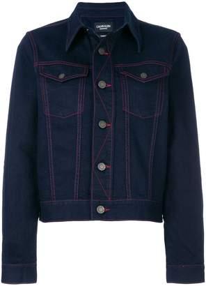 Calvin Klein contrast denim jacket