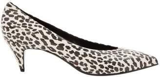 Saint Laurent Charlotte White Leather Heels
