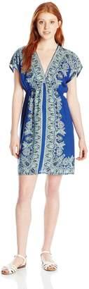 Angie Junior's Printed V-neck Dress